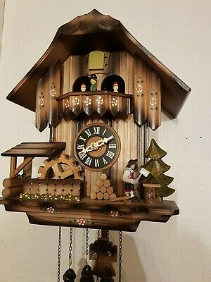 STUNNING  BLACK FOREST  MUSICAL CUCKOO  CLOCK /Servised/VERY Clean/ switch off