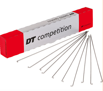 DT Swiss Competition Double Butted 14G SS Spoke Silver Various Sizes Sold by 4/'s