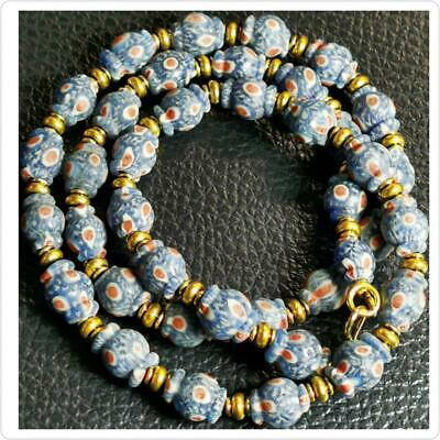 Wonderful  Necklace With Old Roman Mosaic Islamic  Glass Beads  # 96