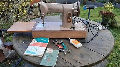 SINGER 185k heavy duty sewing machine.semi industrial leather canvas tools book