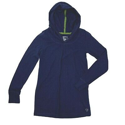 Gap Kids Hoodie Girls Size Medium 8 Navy Blue Knit