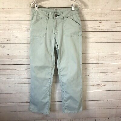Jag Jeans Womens Size 4 Crop Pants Mint Green Stretch Patch Pockets Straight Fit