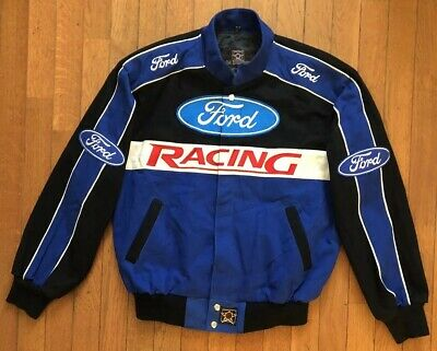 Jh Design Mens Ford Racing Embroidered Jacket Medium