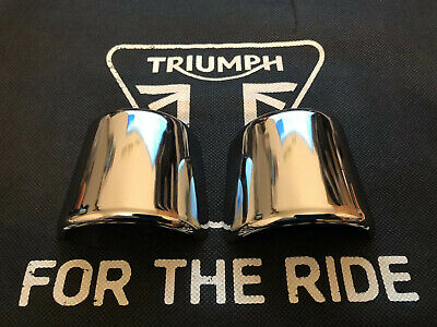 Triumph Thunderbird 900 Chrome Exhaust Clamp Covers T2201395/T2200221