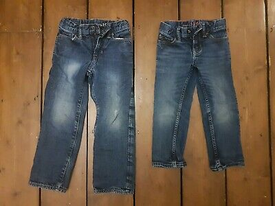 Two Pairs Boys Gap 1969 Jeans Age 4 And 5 (lined)