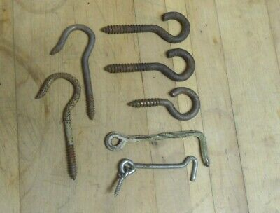 Vintage / Antique Hand-Forged Twisted Iron Door Latch-Hooks for Barn-Shed-Gate