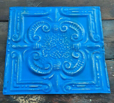 """12"""" x 12"""" Antique Tin Ceiling Tile Vintage metal for craft projects decor"""