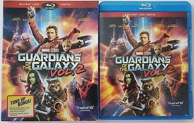 Marvel Guardians Of The Galaxy Vol. 2 Blu Ray + Dvd 2 Disc Set & Rare Slipcover