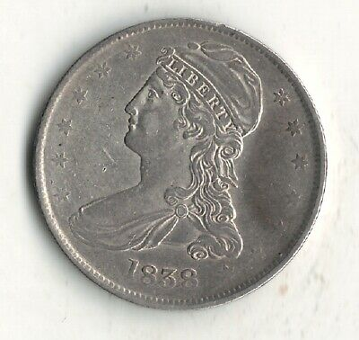 1838 Capped Bust Half Dollar 50C