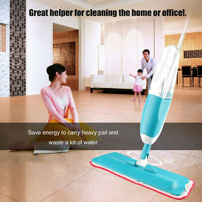 Practical Household Water Spray Mop With Microfiber Pad Home Floor Cleaning Tool