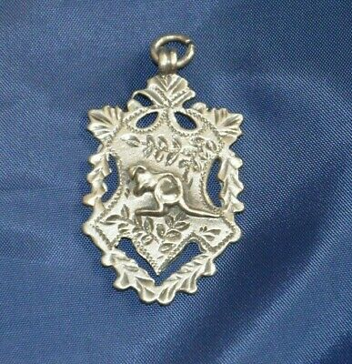Sterling Silver Fob Medallion With Kangaroo Chester 1908.