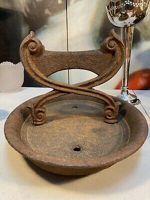 Antique Victorian c1800s English Cast Iron Kenrick & Sons Balcony Boot Scrape