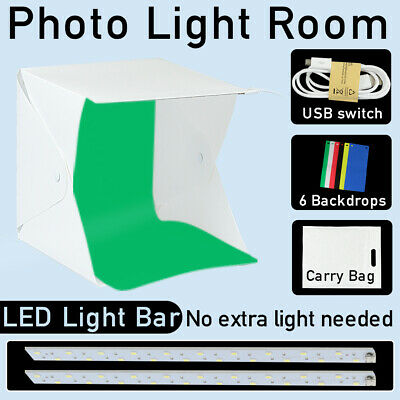 Photo Studio Mini Light Tent Photography LED Lighting Room Backdrop Shooting Box