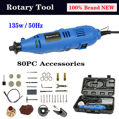 Hobby Rotary Drill Multi-function Tools Grinder Set+Dremel Type 80PC Accessories