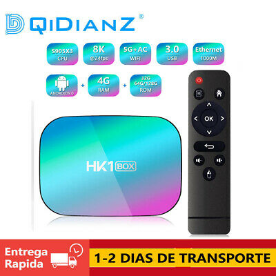 HK1BOX 8K Amlogic S905X3 Smart TV BOX Android 9.0 Dual Wifi 1080P 4K CAJA