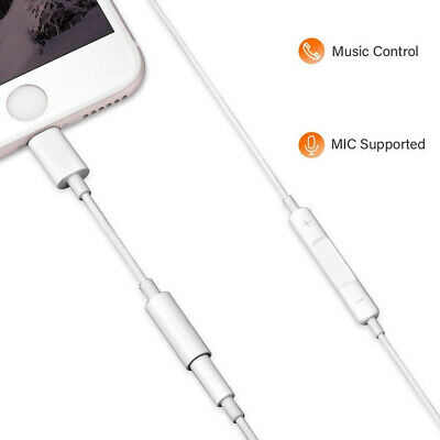 Apple Lightning to 3.5mm Headphone Jack Adapter For iPhone 11 Pro Max XR X 7 8