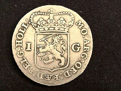 Netherlands Silver Guilder Utrecht Guilden  1792   Proclamation Coin