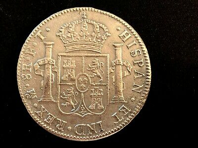 Spain Silver Bust dollar 8 reales Spain and colonies 1802  Proclamation Coin