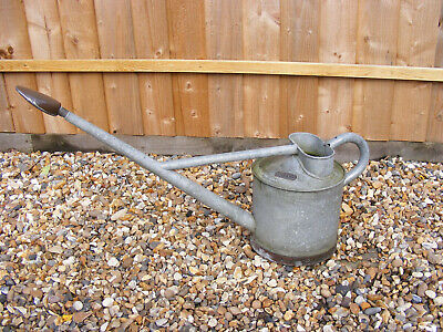 Vintage GEECO Long Reach Garden Plants Flowers Watering Can with Copper Rose