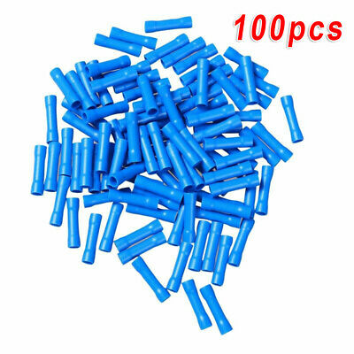 VR2-8 Blue #us7 Ga 18-14 AWG 8mm Wire Connector RING TERMINAL x 100 pcs