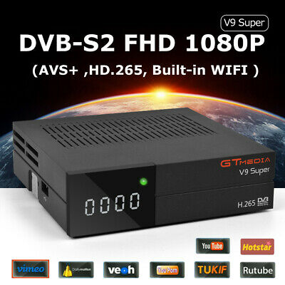 GTMedia V9 Super Satellite Receiver Bult-in WiFi Full HD DVB-S2/S H.265 TV box