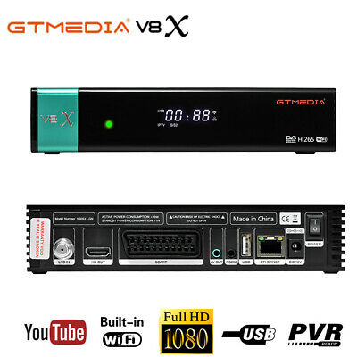 Gtmedia V8 Nova Receptor built-in WIFI power by freesat v8 super DVB-S2 TV Box