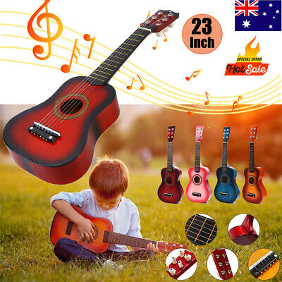 "Kids Beginners Toy Guitar 23"" Acoustic Guitar 6 String Children Music Rock Star"