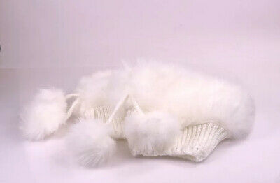 River Island Fluffy Pom Pom Boot Toppers Cuff Leg Warmers