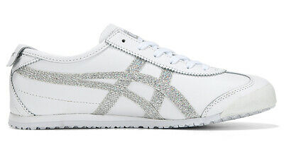 Asics Onitsuka Tiger Mexico 66 White Silver Casual Shoes 1182A129-100