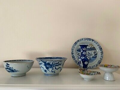 Group of Antique Chinese Porcelein Kangxi 18th/19th Century (7)