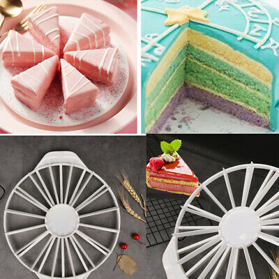 14/16 Part Round Cake Slicer Cutting Fixator Bread Slice Even Cake Slicing Tool