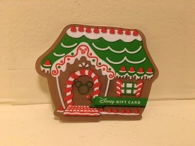 Disney Collectable Gift Card NV Mint Christmas Ginger Bread House Collectible