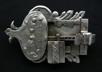 Original Antique Cabinet Lock Furniture Lock Baroque Iron without Key