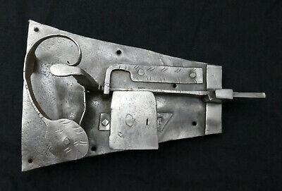 Original Antique Door Lock Open Castle Baroque Made of Iron without Keys