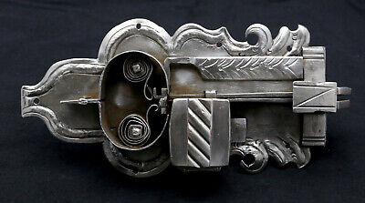 Original Antique Cabinet Lock Federschloß Baroque without Key Made of Iron