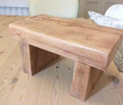 A Bespoke Foot Stool, Naughty Step, Rustic Reclaimed Antique Wood, Hand Made