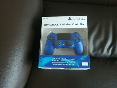 COLLECTION ONLY PS4 Sony Official Blue Dualshock V2 Controller Brand New Sealed.