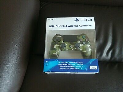 COLLECTION ONLY PS4 Sony Green Camo Dualshock V2 Controller Brand New Sealed .