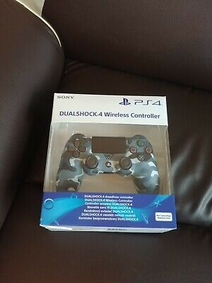 COLLECTION ONLY PS4 Sony Blue Camo Dualshock V2 Controller Brand New Sealed ,