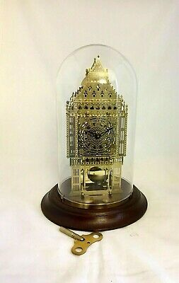 Rare Hermle Big Ben Brass & Glass Striking 8 Day Skeleton Clock For A Nurse Fund
