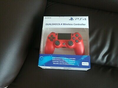 COLLECTION ONLY PS4 Sony Official Red Dualshock V2 Controller Brand New Sealed