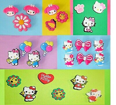 Kitty Shoe Charms Hello Shoe Buttons Plugs Accessories Melody Shoe Decorations