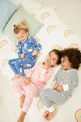BNWT Next Girls 3-4 Years 3 Pack Snuggle Fit Pyjamas, Unicorn, Character Print