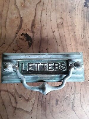 Antique/Vintage Character Brass Letter Box/Door Knocker