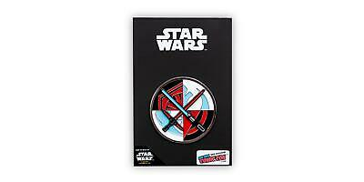 Star Wars Spinning Lightsabers Official Collectible Pin   Measures 2 Inches Tall