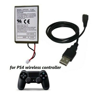 Rechargeable Battery & USB Charger Cable For PS-4 Wireless Controller 2000mAh