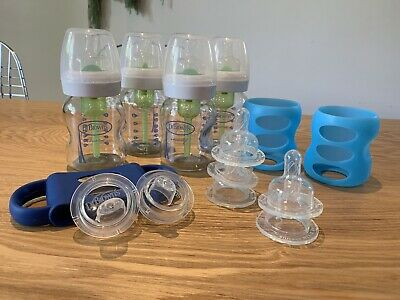 Dr Brown's Wide Neck Glass Bottles, Sippy Spouts  ; Lightly Used