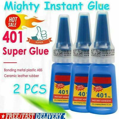 2x Mighty Glue 401 Instant Adhesive Stronger Super Glue Multi-Purpose 20g/Bottle