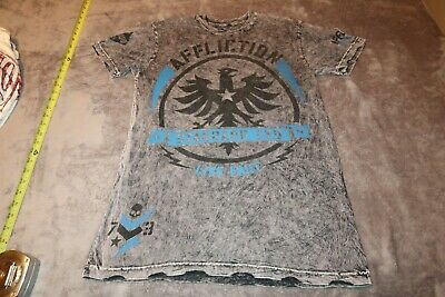 Affliction Graphic AUTHENTIC T Shirt Mens Size MED GRAY Live Fast GREAT SHAPE