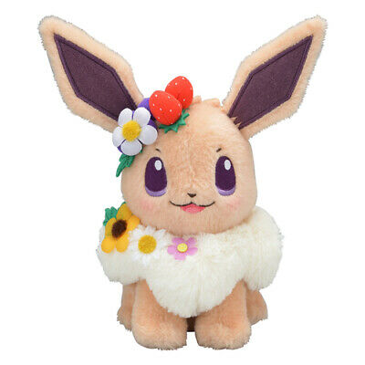 Stuffed Teddy Soft Pokemon Character Toy Blume Easter Eevee Plush Doll Toys 18cm